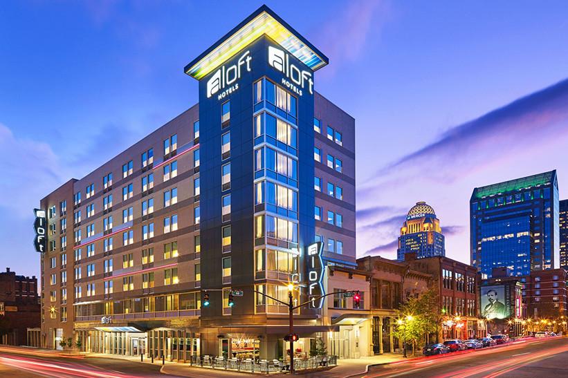 Louisville, KY Aloft Exterior Twilight