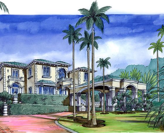 Palm Beach, FL Residence Entry Drive