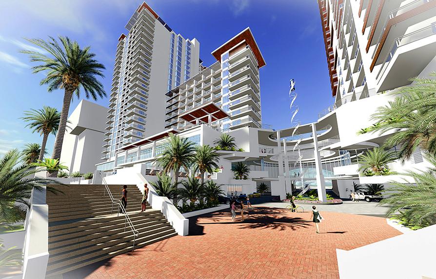 Daytona, FL Hotel and Condos Exterior