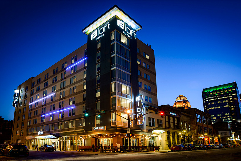 Louisville, KY Aloft Exterior Night