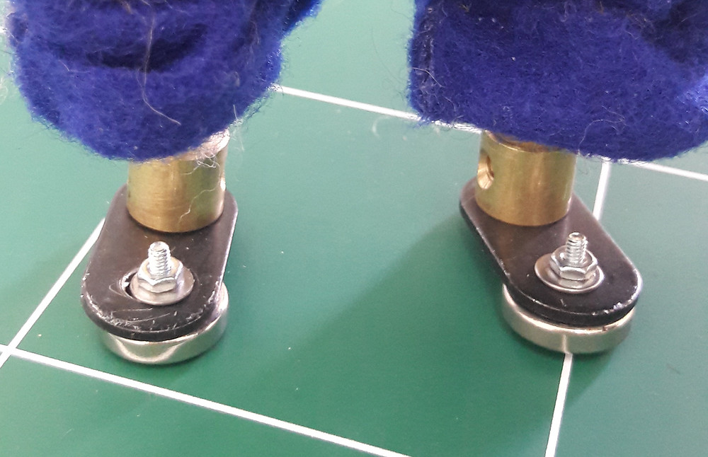 Feet with the magnets