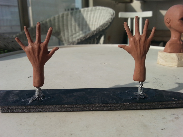 Making Silicone puppets - Part 2 – hands