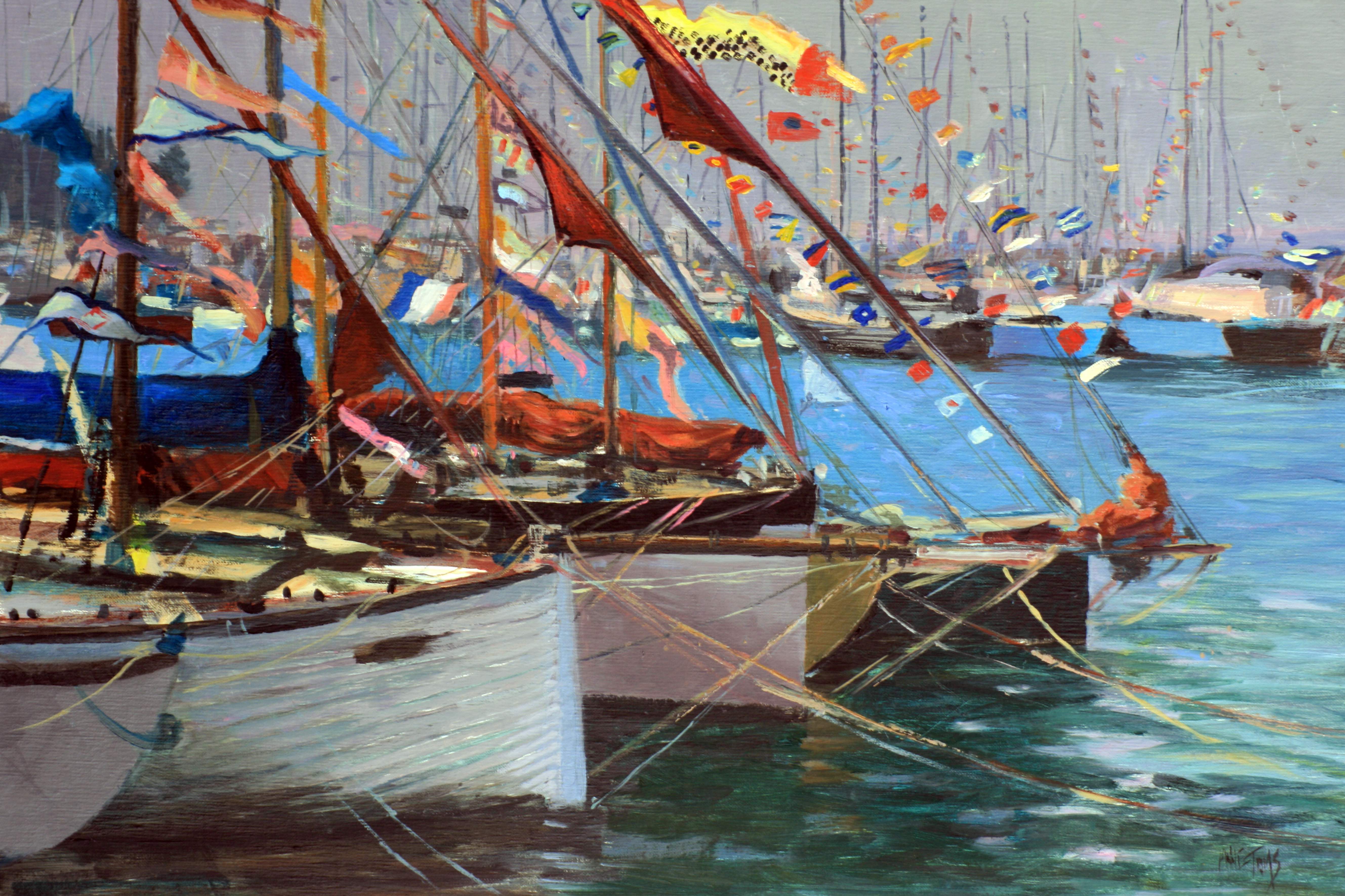 Old Gaffers in Yarmouth Harbour