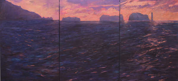 Needles - Evening Triptych