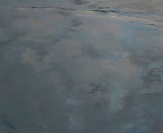 new paintings - shades of grey and blue
