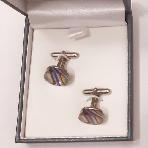Candy Stripe Cufflinks