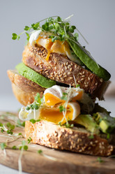 Poached egg sandwich with avocado| food photography