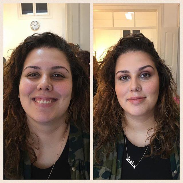 Antes e Depois _ Contorno _#nofilter #makeupartist #makeupschool #brides #bridesmakeup #makeupartist