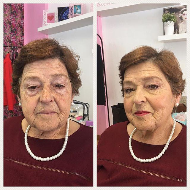 Hoje _emprestaram-nos_ a avó Carmo ☺️ para a nossa aula de peles maduras, no Curso Profissional ❤_Ad