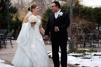 Our wedding in the snow