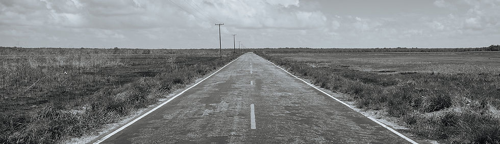 lonely road in nowhere, USA