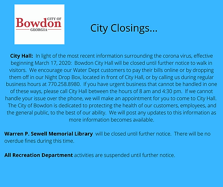 City of Bowdon.closed.corona virus.png
