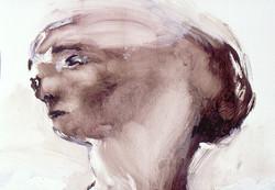 Ela Tom - oil on paper 45x35cm