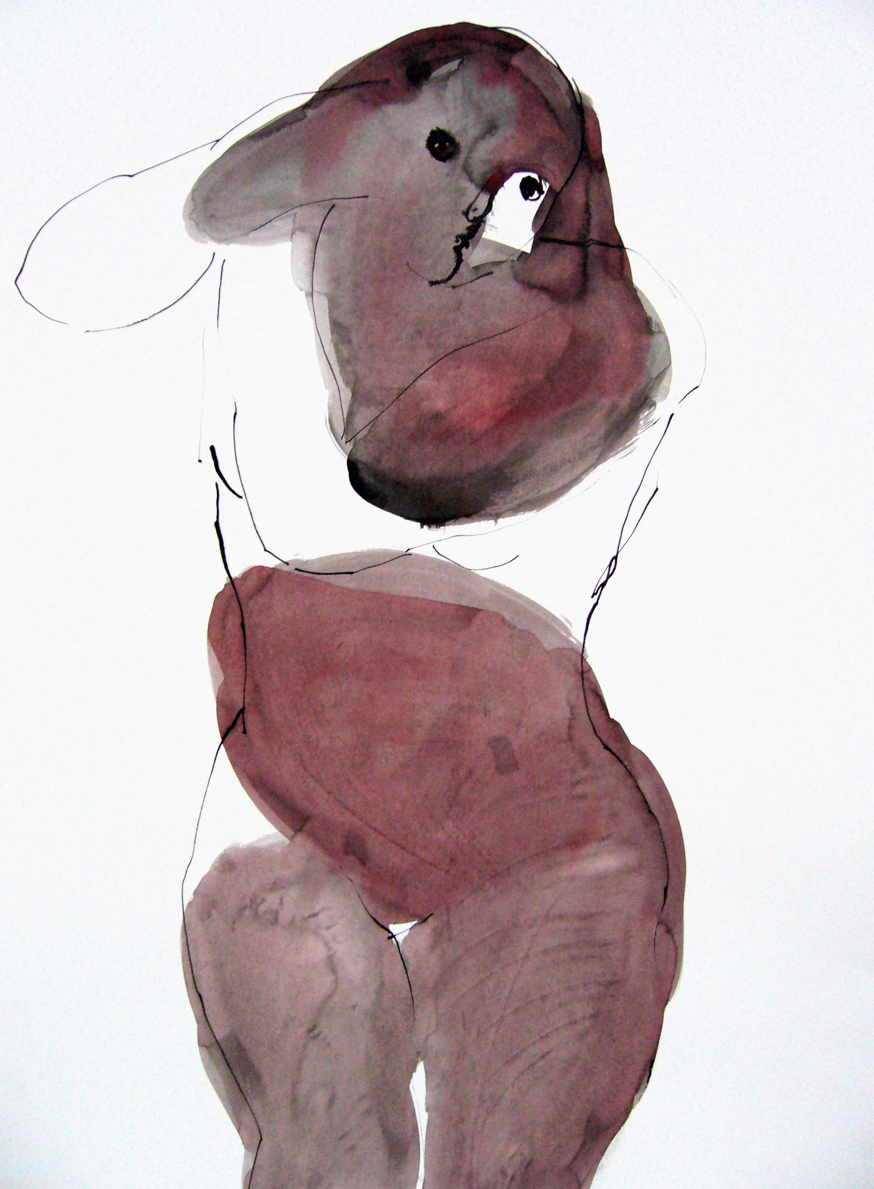 Ela Tom - ink on paper 55x73cm