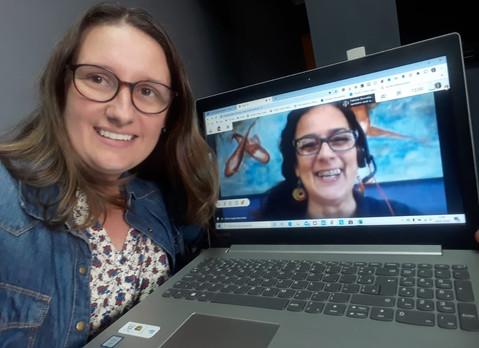 Alunos do 7º ano encontram Marta Marcondes, professora da USCS