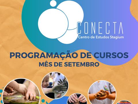 Conecta Stagium - Programação de Cursos | Setembro