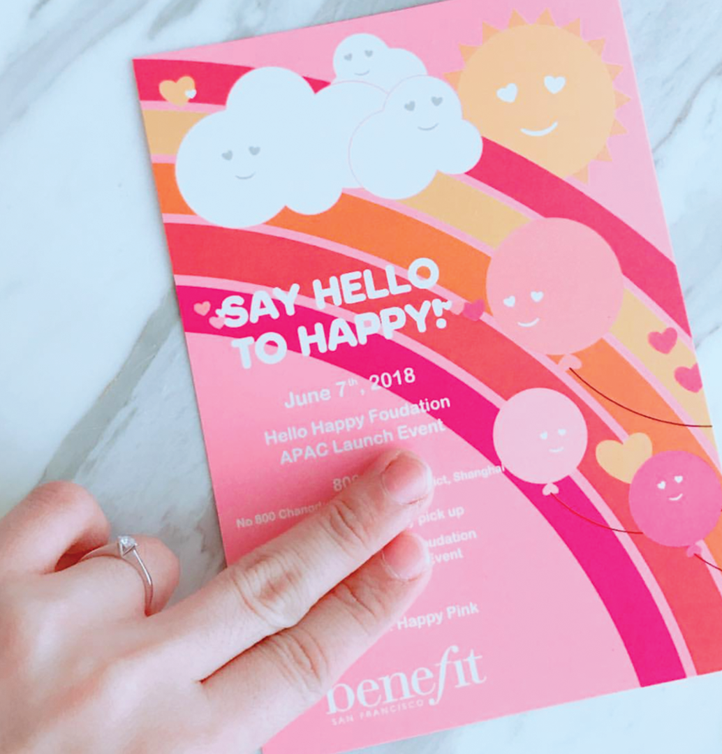 Hello Happy Influencer Event Invite