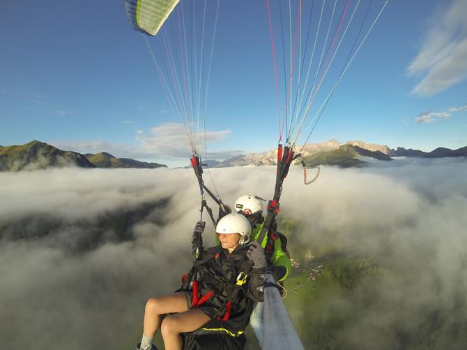 In volo sopra le nuvole, una di quelle emozioni che capitano raramente, ma se si ha fortuna la natur