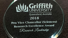 Hamish awarded for research leadership!