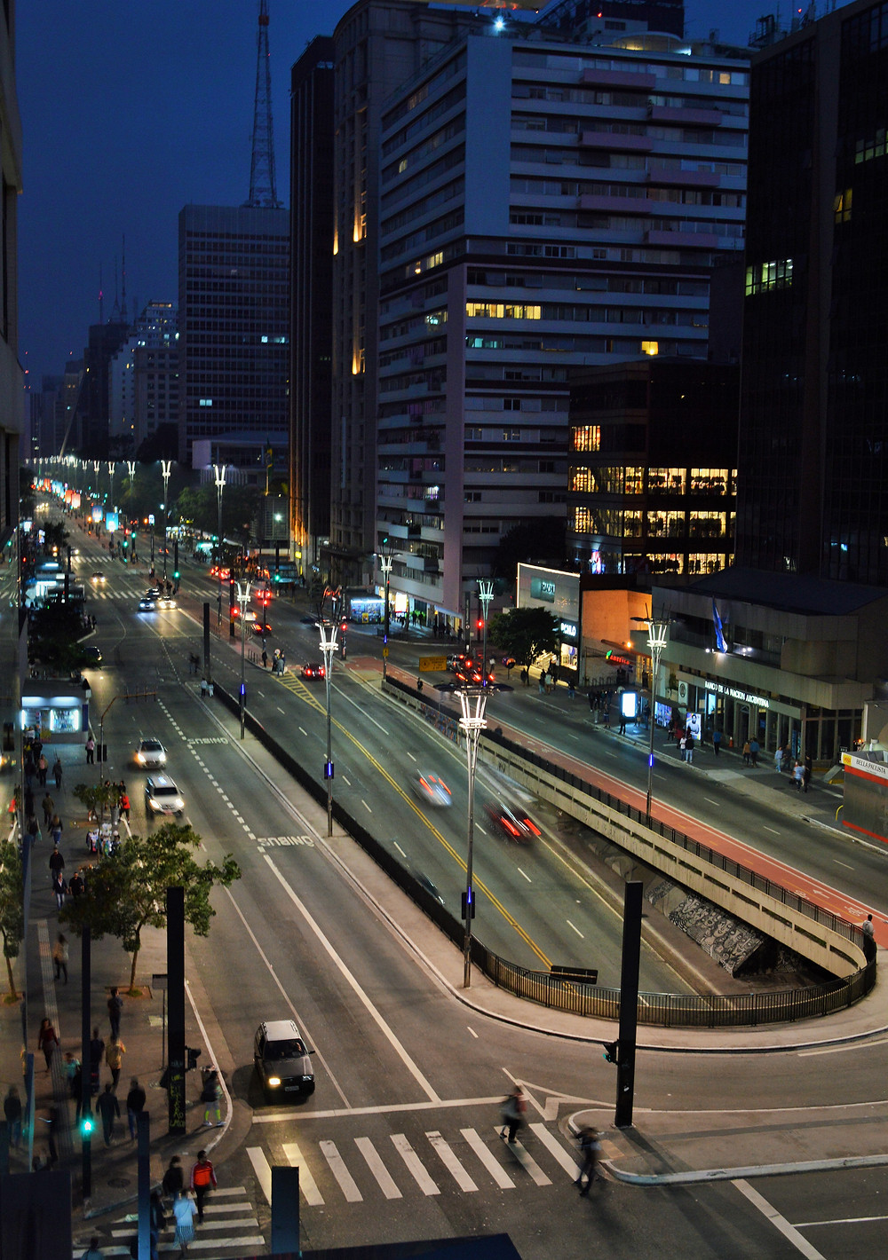Avenida Paulista, one of the main avenues in São Paulo.