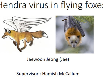 "Dr. Jeong awarded an EFRI Student Symposium presentation prize! ""Control of Hendra virus spillo"