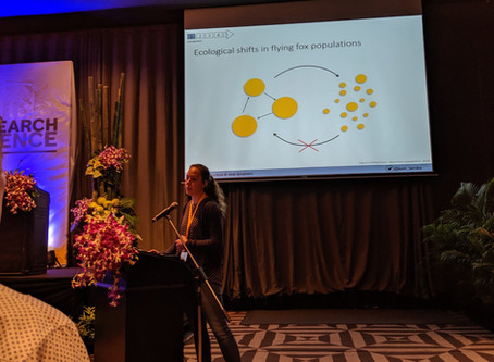 Tamika presented her research at the 2019 International Bat Research Conference in Phuket, Thailand