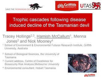 "Presentation at ICCB, Montpellier: ""Trophic cascades following disease induced decline of the T"