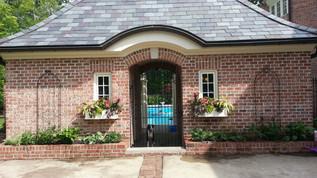 Formal Bath House Planting