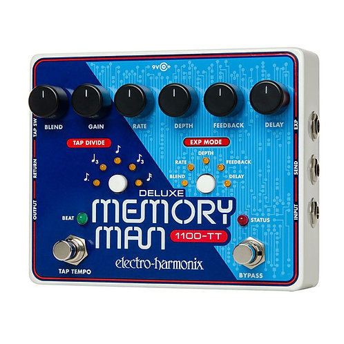 Electro-Harmonix Deluxe Memory Man 1100-TT Delay Pedal with Tap Temp