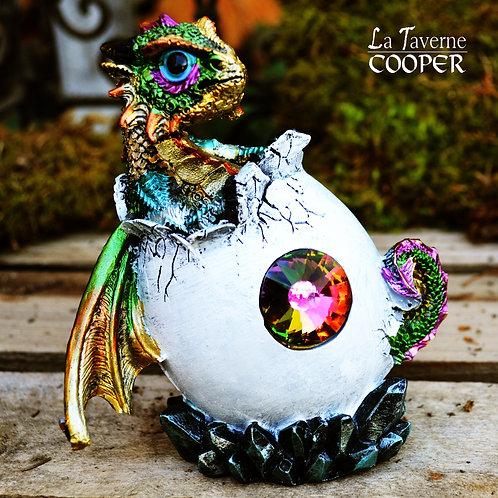 Dragon œuf cristal (multicolore)