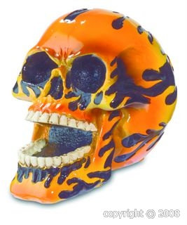 Crâne Flammes
