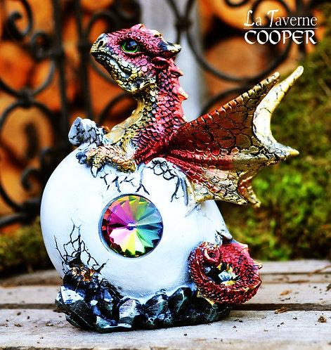 Dragon œuf avec cristal (rouge)
