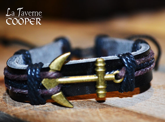 Bracelet ancre dorée