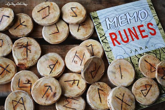Runes en bois de sapin (pyrogravé)