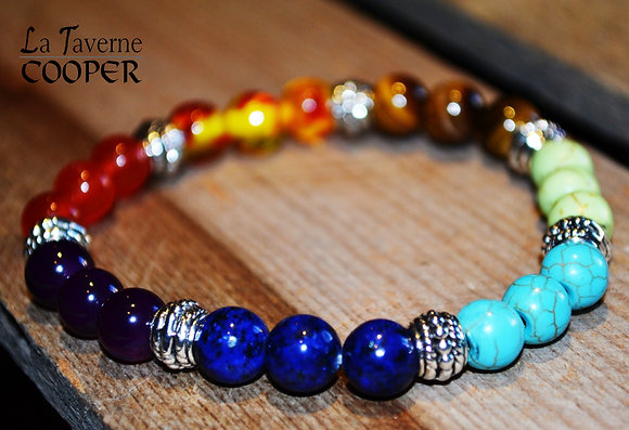 Bracelet pierres multicolores