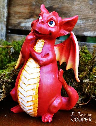 Dragon porte encens rouge