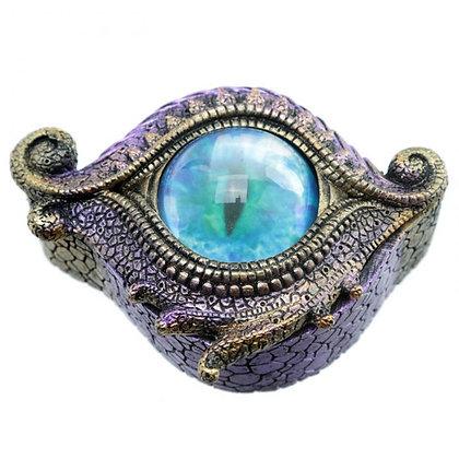 Boite à bijoux œil de dragon violet