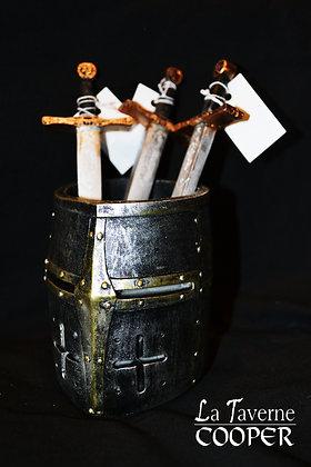 Pot à crayon Casque