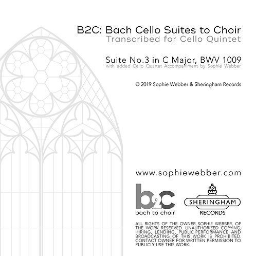 Bach Cello Suite No.3 in C Major + New Cello Quartet Accompaniment