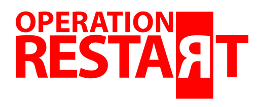 Operation RESTART T Shirt Design RED Log