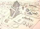 sketch_jagged buildings concept sketch.J