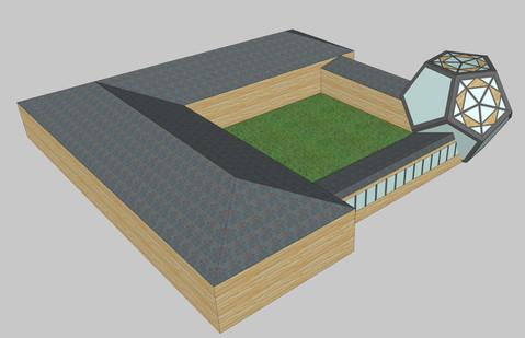 Courtyard Platonic Solid Schematic model