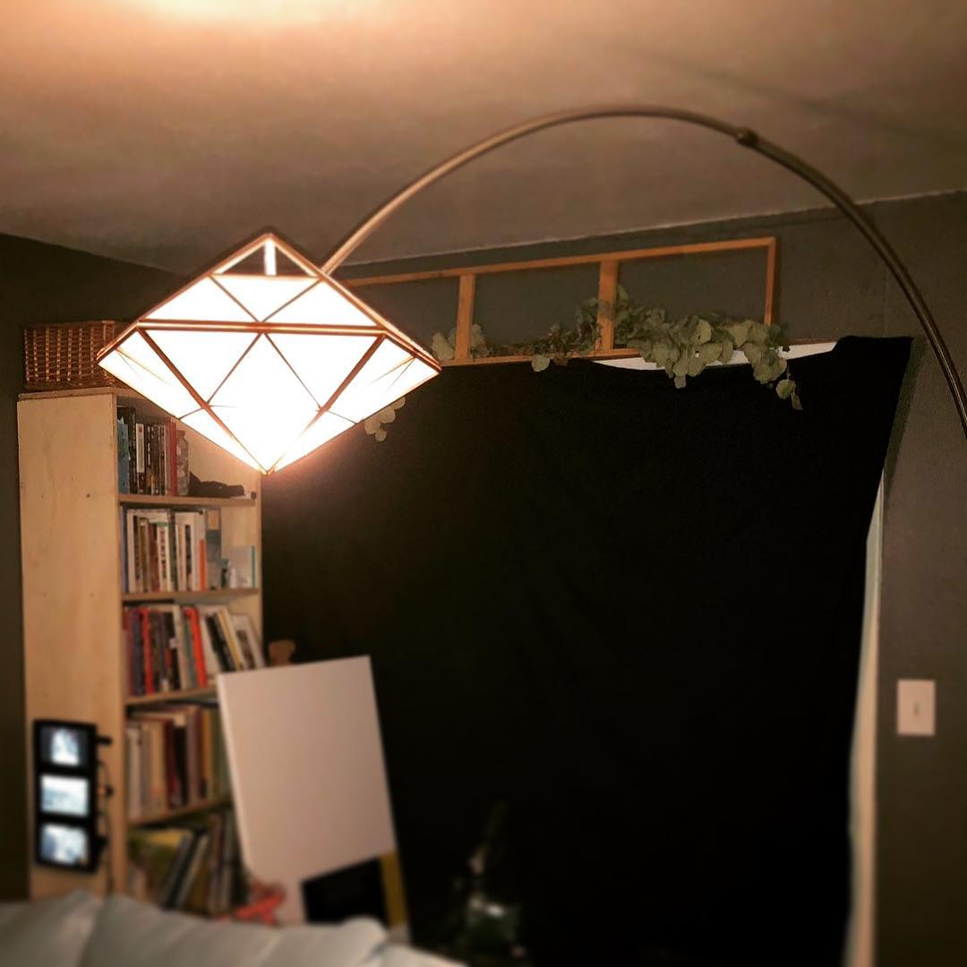 Custom Geometric Japanese Lantern Shade.