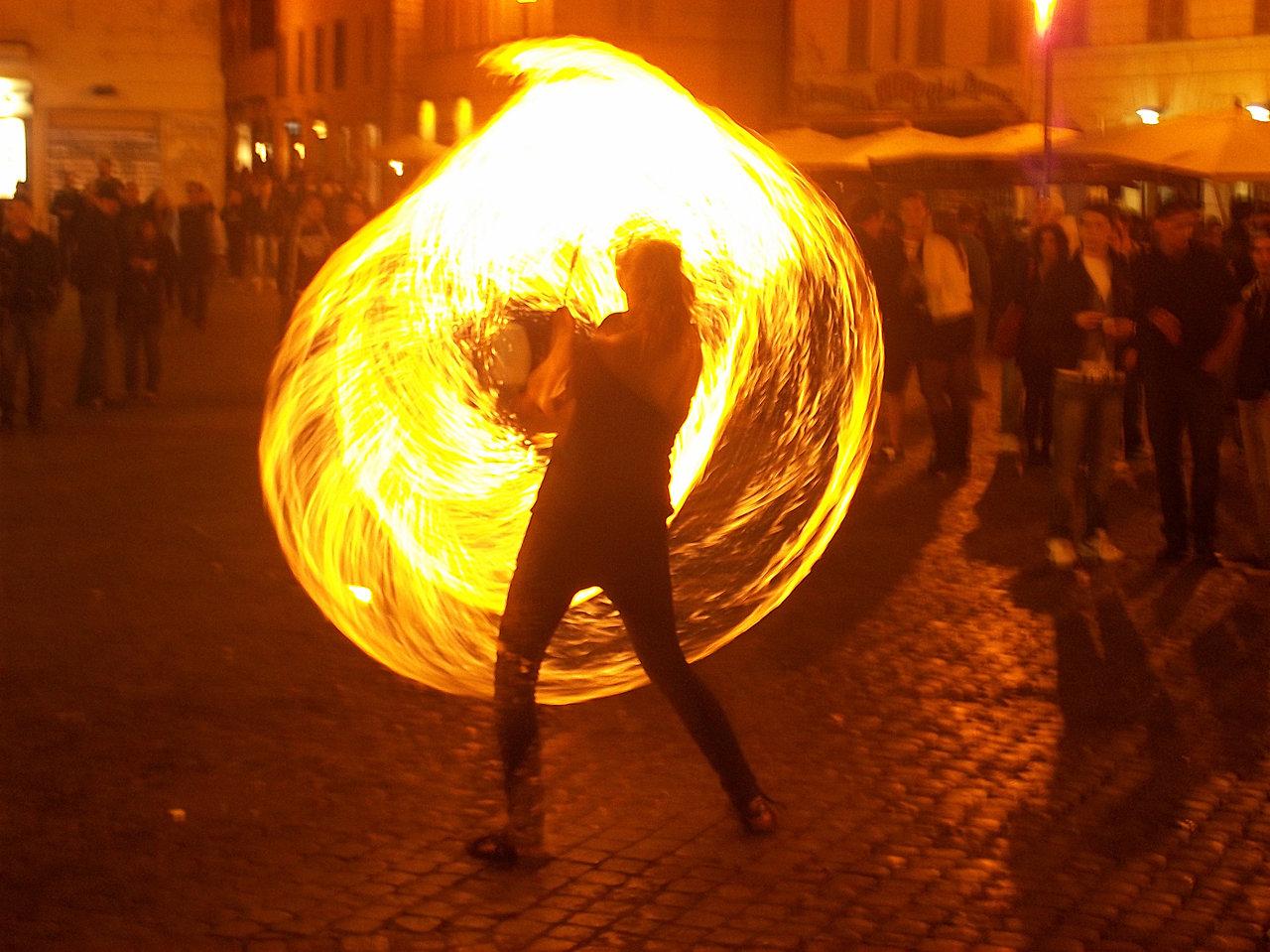 """FIRE-DANCER""_PHOTO TAKEN IN ROME"