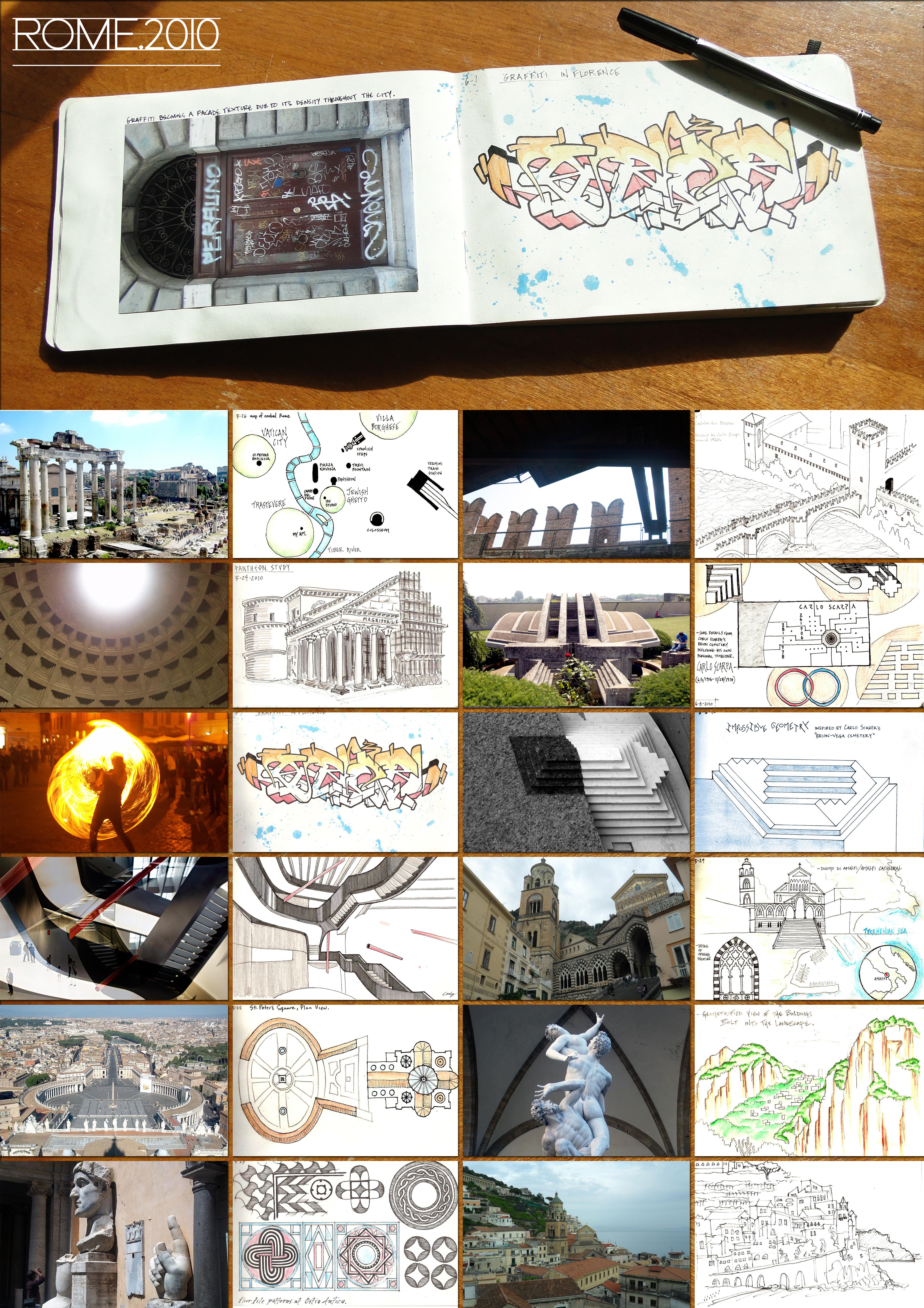 _Rome Sketchbook collage