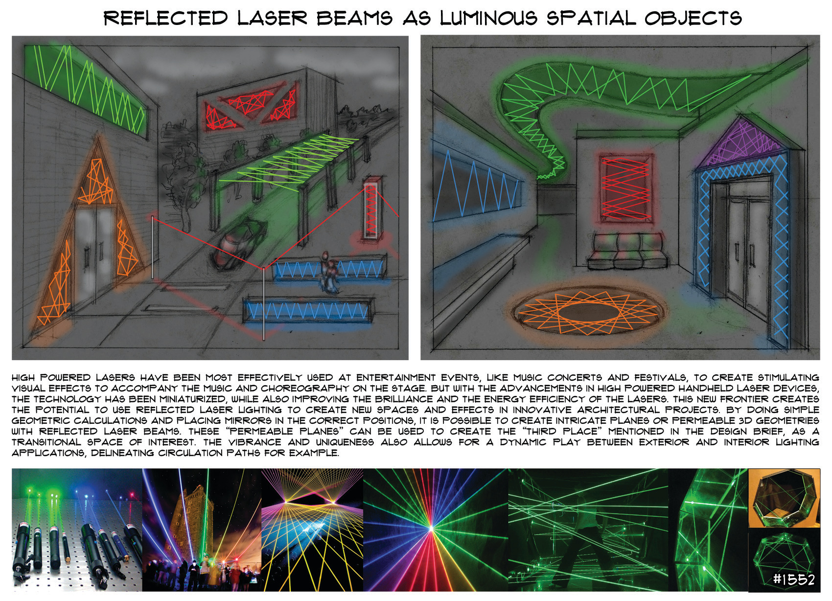 LIGHTING CONCEPT_REFLECTED LASERS