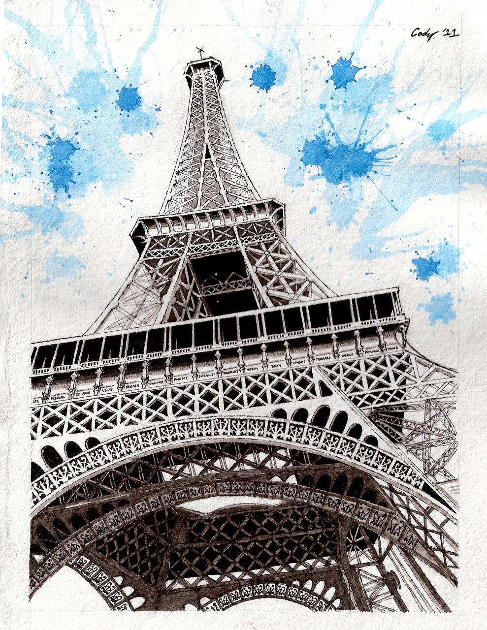 EIFFEL TOWER HAND DRAWING