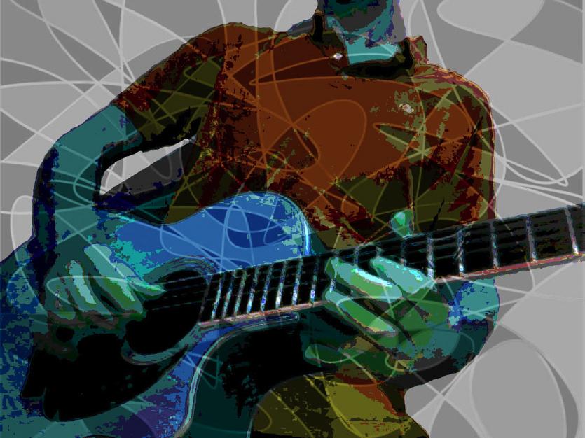 """""""GUITAR SPAZZ""""_DIGITAL ART"""