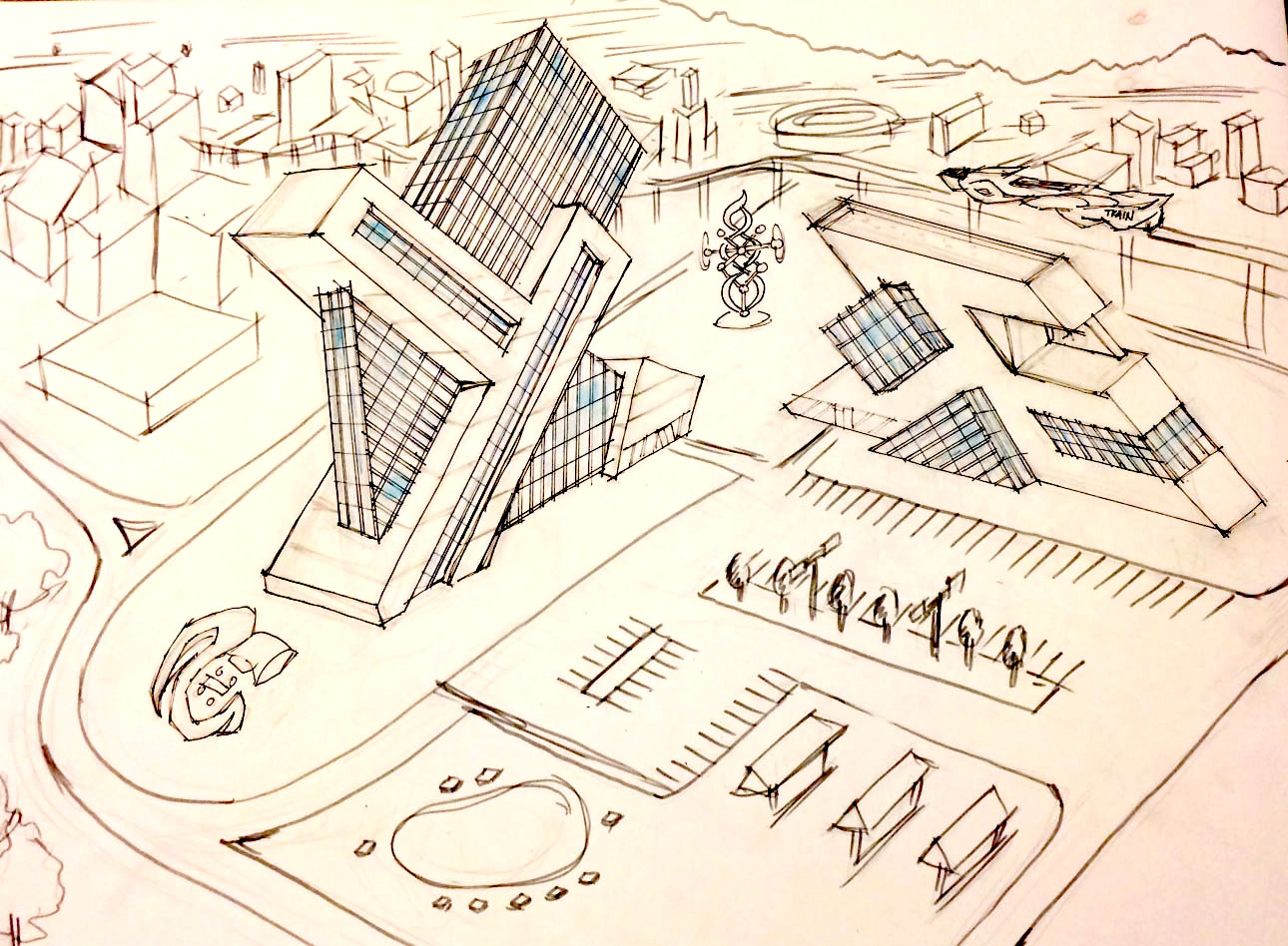 sketch_jagged buildings concept sketch