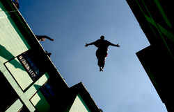 Ayala in mid air